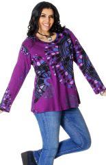 Tunique pour Femme Ronde Ethnique et Imprimée Baila Violette 286747