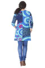 Tunique pour femme ronde Ethnique et Originale Laure Bleue 286186
