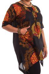 Tunique pour Femme Ronde Originale et Asymétrique Samsara Noire 284532