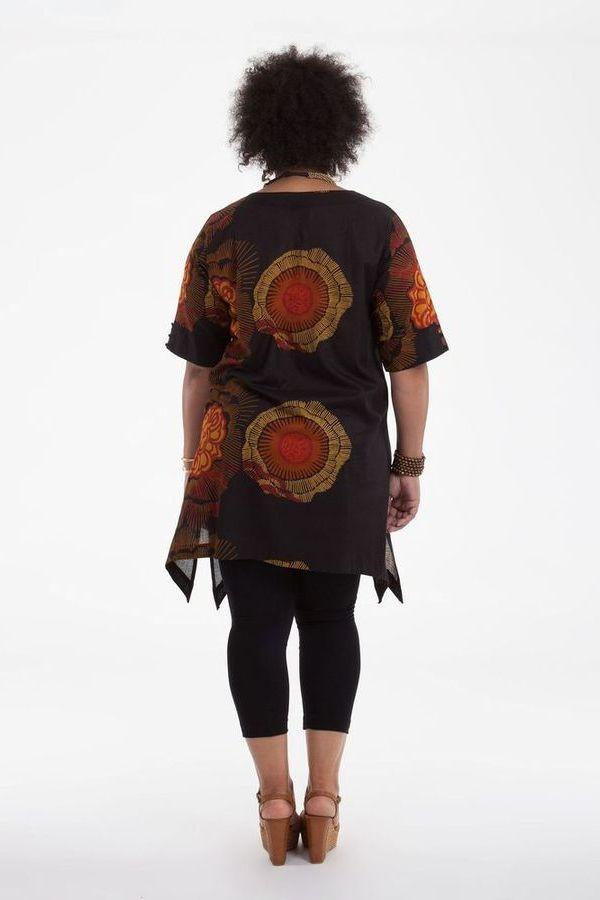 Tunique pour Femme Ronde Originale et Asymétrique Samsara Noire 284534
