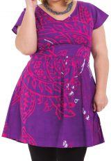 Tunique pour femmes rondes Ethnique et Colorée Alpha Violette 284317