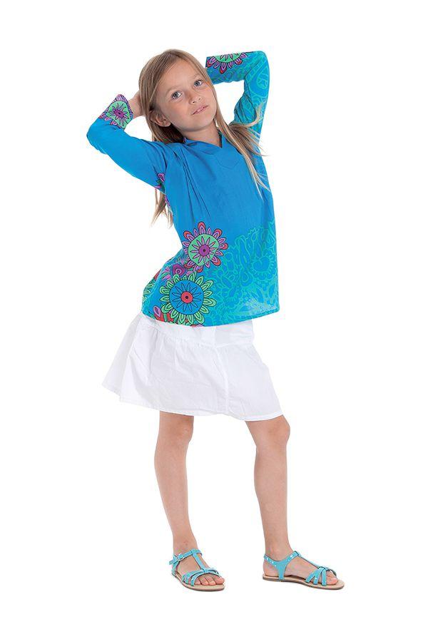 Tunique pour Fille Originale et Pas Chère Lory Turquoise 280681