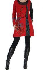 Tunique rouge à manches longues Kamilia 266600