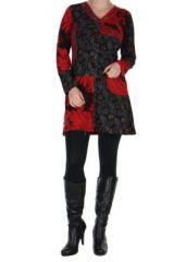 Tunique rouge avec poche Luminia 266608