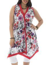 Tunique size plus style bohème avec imprimé floral Valou 295281