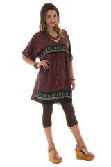 tunique style indien a manches courtes et col en v Tweed 290078