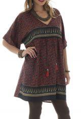 tunique style indien a manches courtes et col en v Tweed 292043