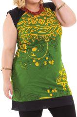 Tunique Verte Grande taille sans manches et Tendance Katrina 284554