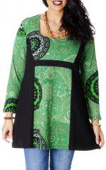 Tunique Verte pour femme ronde Ethnique et Originale Laure 286787