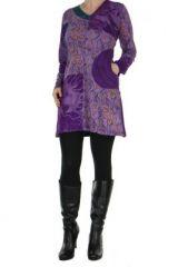 Tunique violette avec poche Luminia 266604