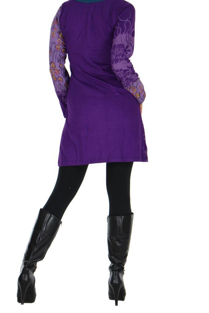Tunique violette avec poche Luminia 266605