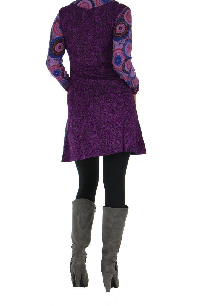 Tunique violette originale imprimée Julia 266613