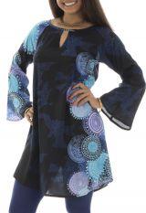 unique femme d'été en rayonne Originale et Colorée Persy Bleue 292865