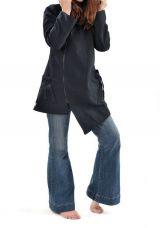 Veste à capuche lutin noir Lutinia 317129