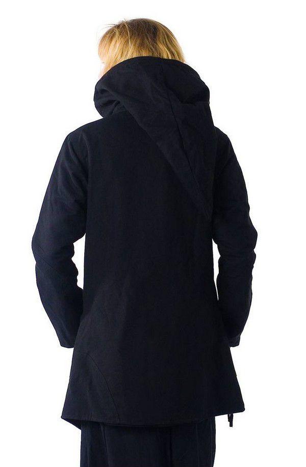 Veste à capuche lutin original et chaude noir Lutinia 303207