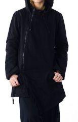 Veste à capuche lutin original et chaude noir Lutinia 303208