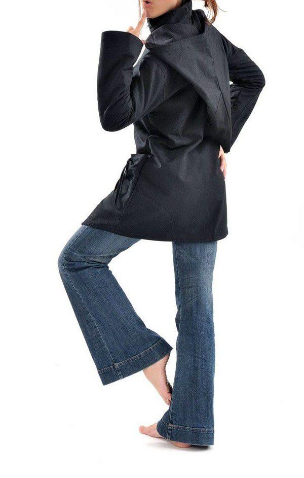 Veste à capuche lutin original et chaude noir Lutinia 303209