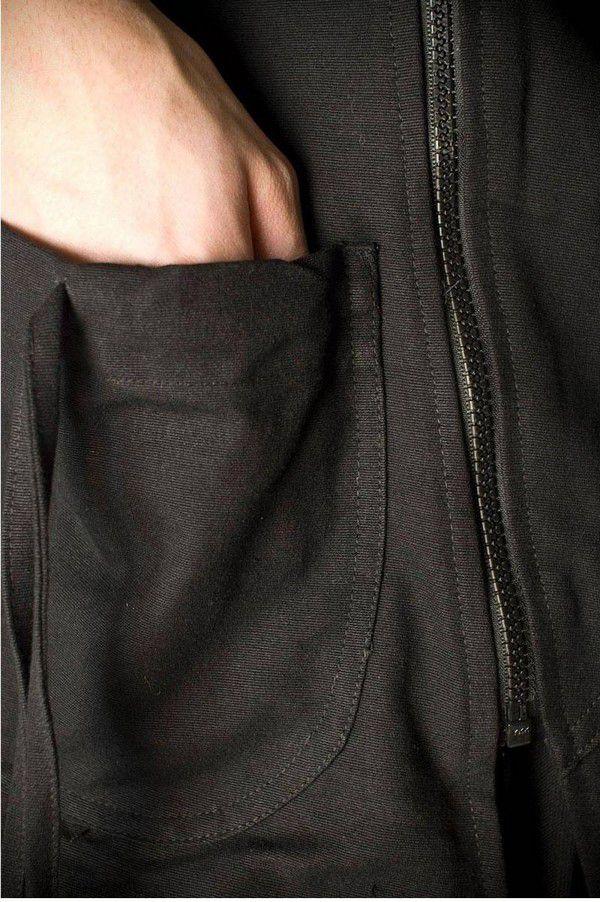 Veste à capuche lutin original et chaude noir Lutinia 303210