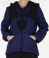 Veste à capuche pour Femme Ethnique et Originale Kasia Violette 278149