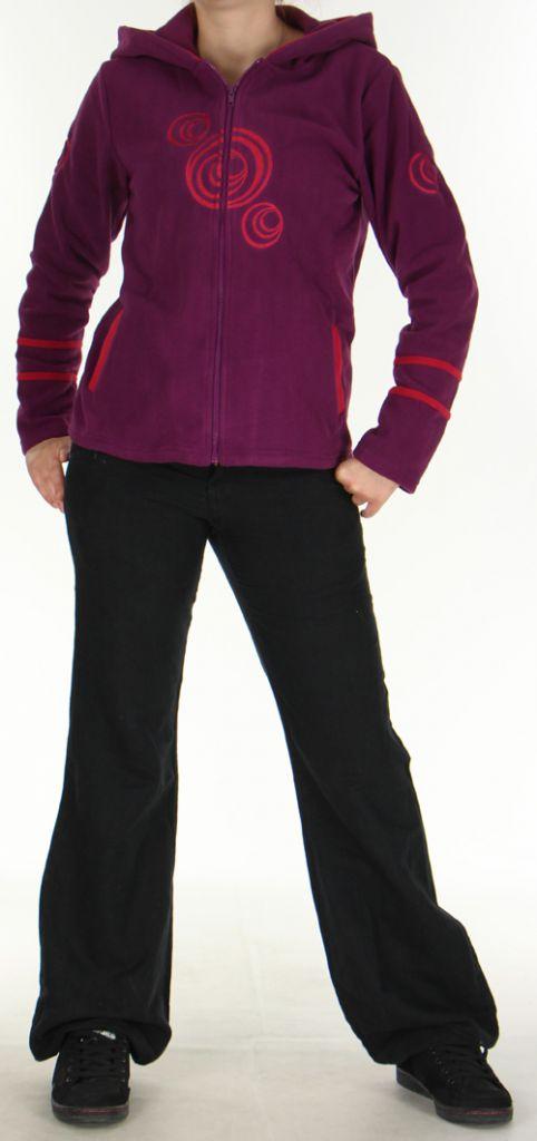 Veste Colorée et Chaude pour Femme en polaire Selen Mauve 276282