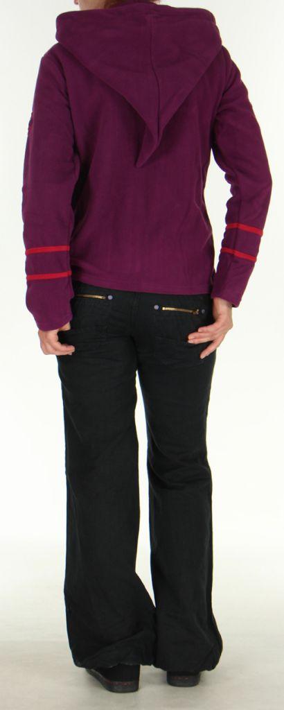 Veste Colorée et Chaude pour Femme en polaire Selen Mauve 276283