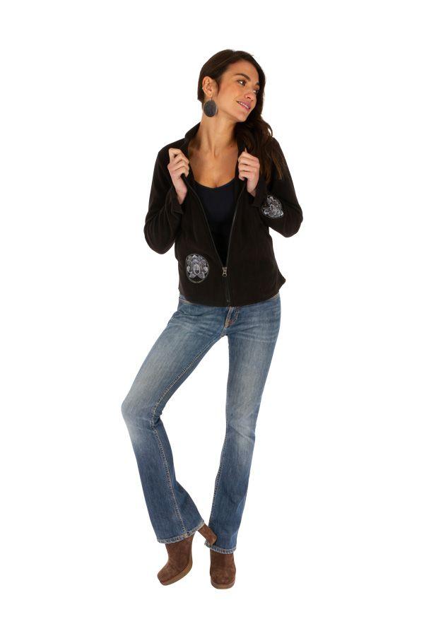 Veste courte noire très féminine et tendance Katsina 313406