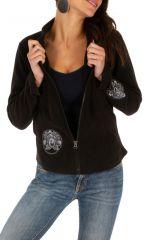 Veste courte noire très féminine et tendance Katsina 313408