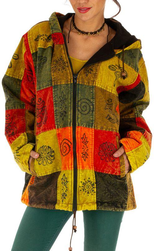 Veste d'hiver très tendance ethnique et mixte Mandera 312842