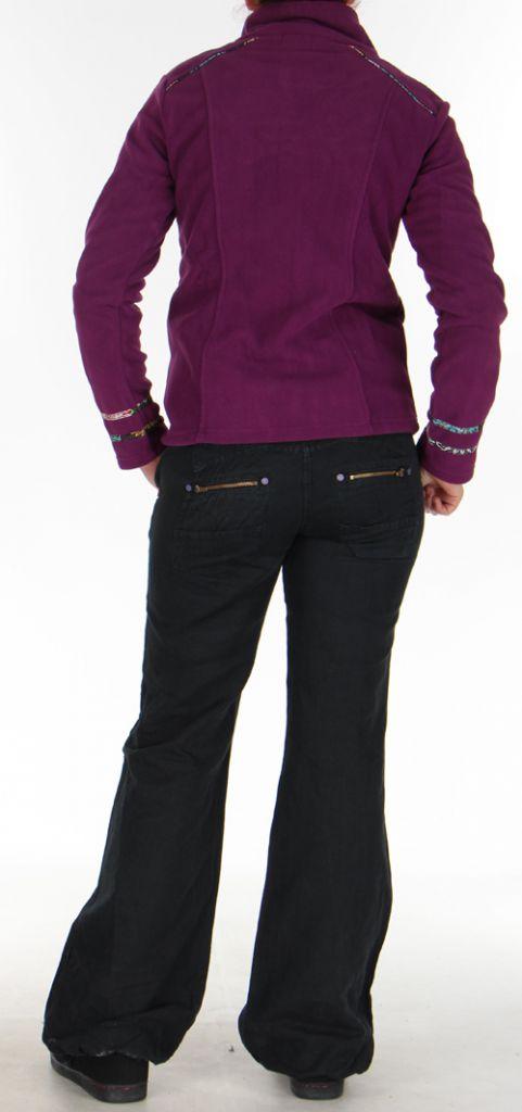 Veste en polaire Colorée et Chaude pour Femme en polaire Shainel Mauve 276207