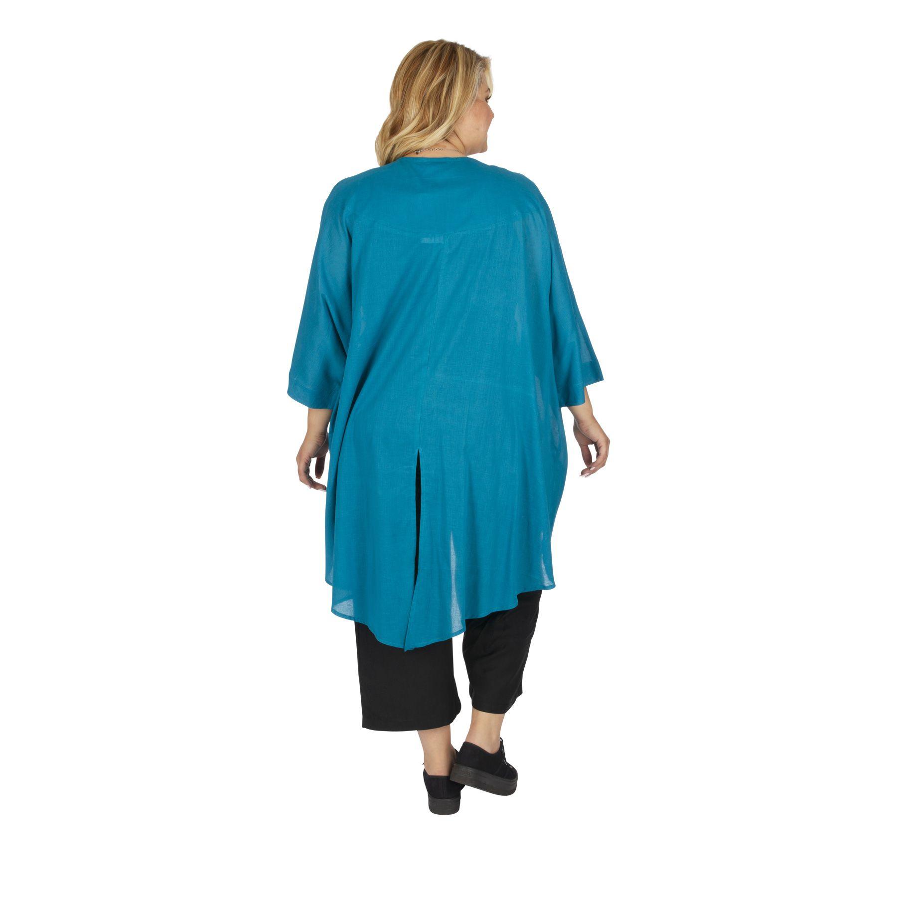 Veste été grande taille femme bleue très légère Altenal