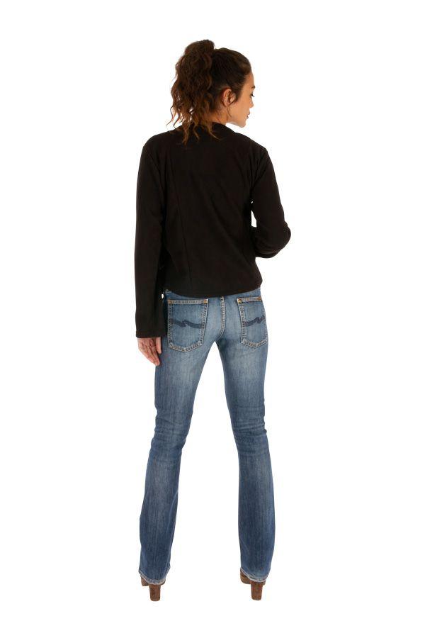 Veste ethnique courte pour femme aux fins imprimés Okene 313413