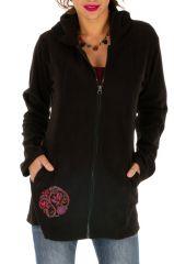 Veste femme à capuche originale et imprimée Monrovia 313288