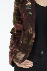Veste femme courte avec un imprimé original marron Alik 304775