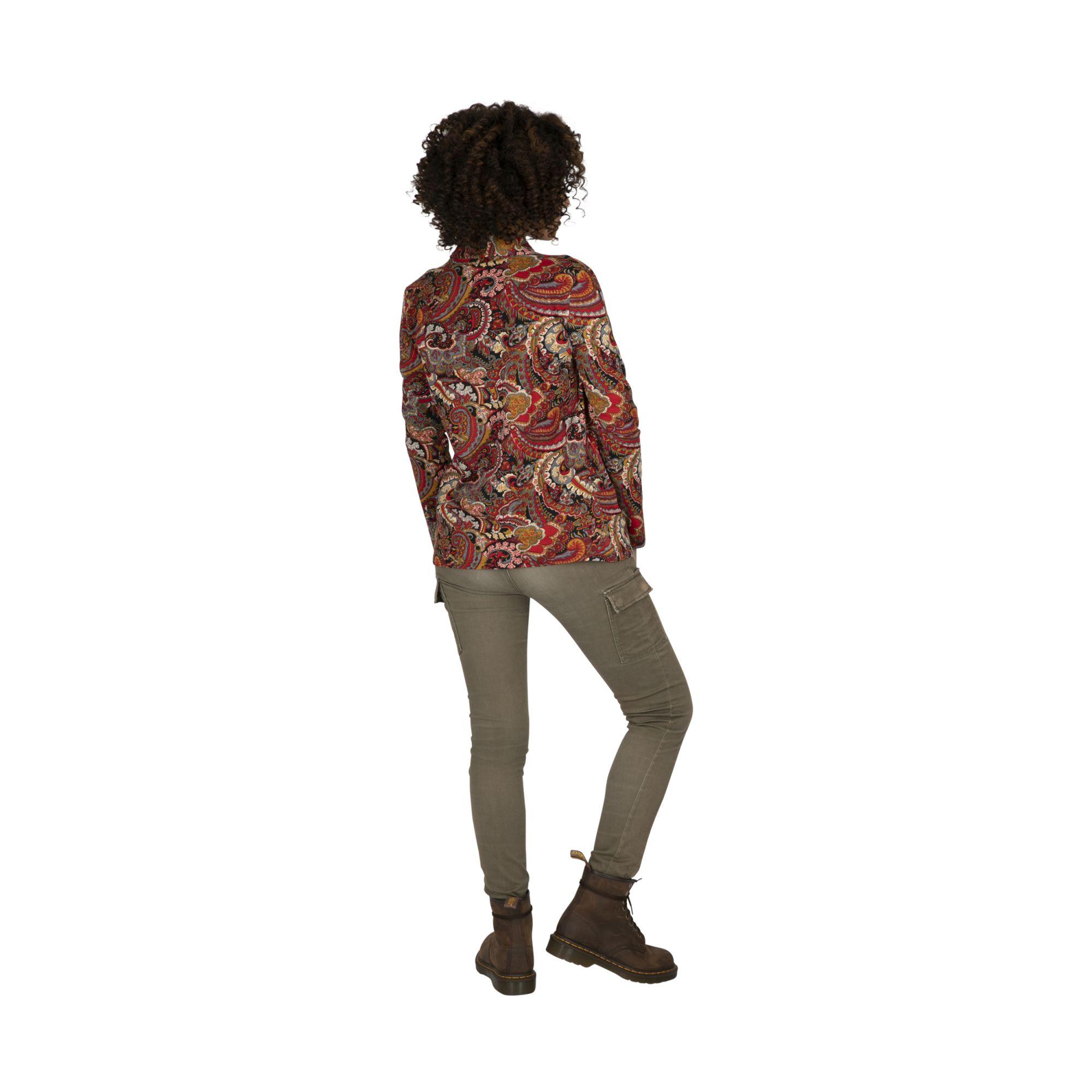 Veste femme courte cintrée originale et colorée Parana