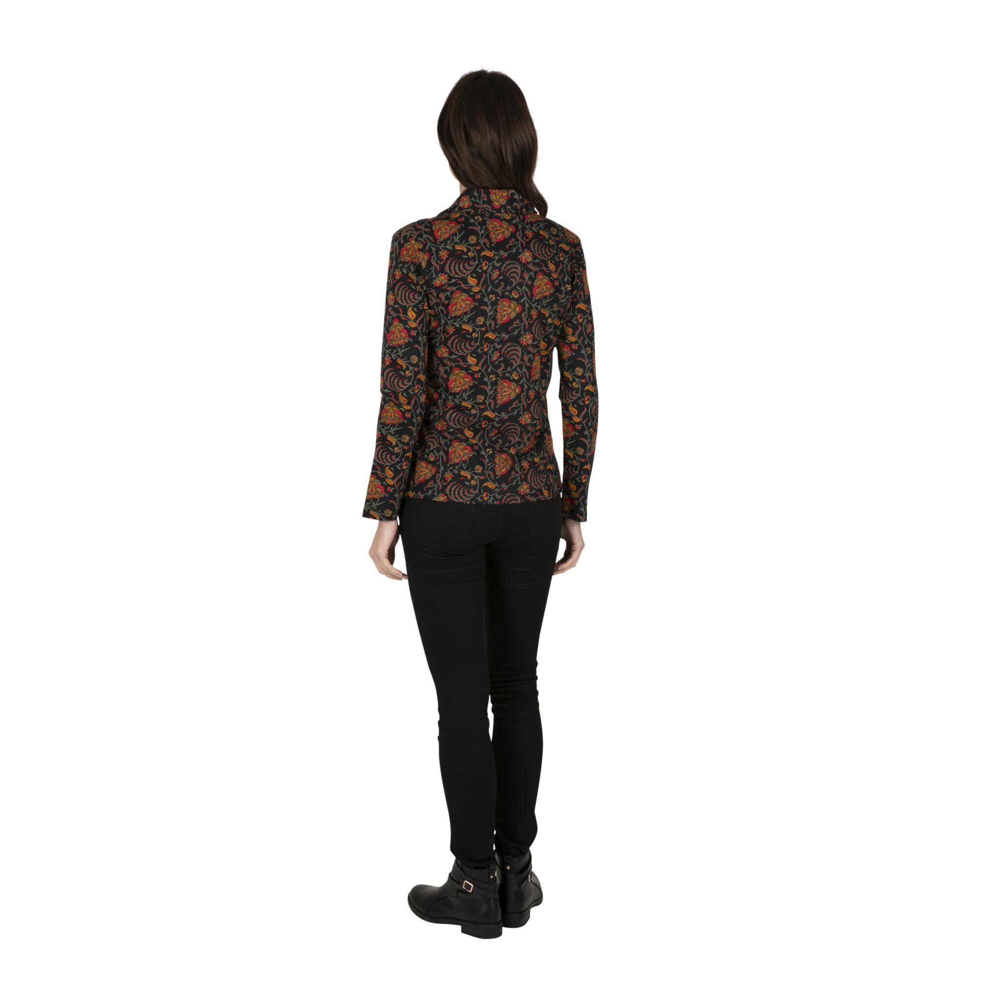 Veste femme courte noire et colorée pour soirée Concordia