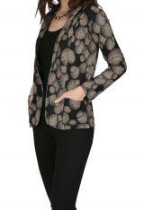 Veste femme courte originale cintrée en coton Mendoza