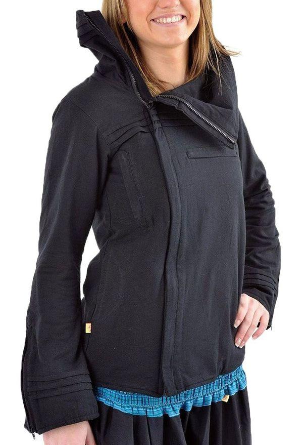 Veste femme de couleur noire ethnique doublée polaire Lamina 304628