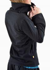 Veste femme de couleur noire ethnique doublée polaire Lamina