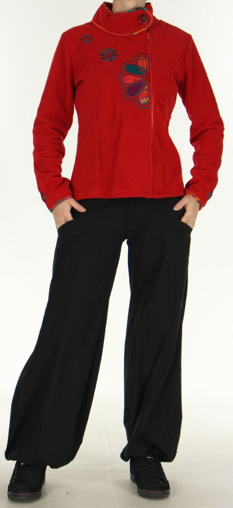 Veste Femme en polaire Colorée et Chaude Ohana Rouge 275972
