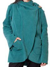 Veste Femme en polaire Ethnique et bien Chaude Ottawaa Bleue 275895