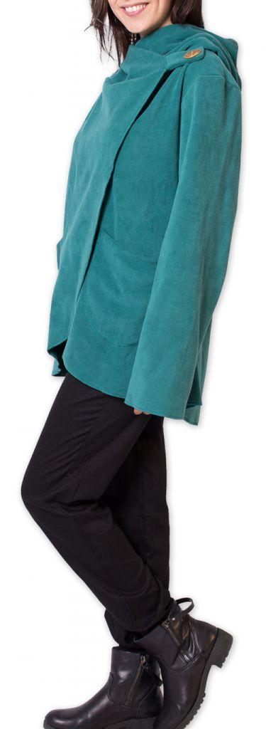 Veste Femme en polaire Ethnique et bien Chaude Ottawaa Bleue 275898