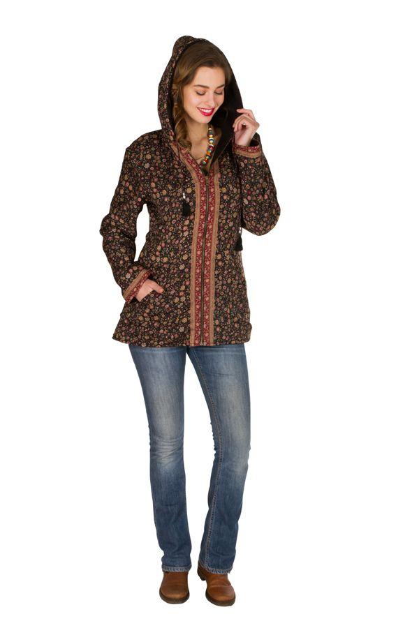 Veste femme imprimée et originale avec une capuche Sonia 305380