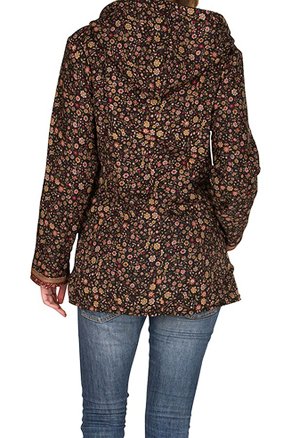 Veste femme imprimée et originale avec une capuche Sonia 305381