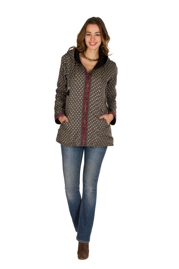 Veste femme mi-saison avec une capuche Sonia 305410