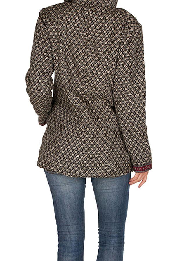 Veste femme mi-saison avec une capuche Sonia 305411