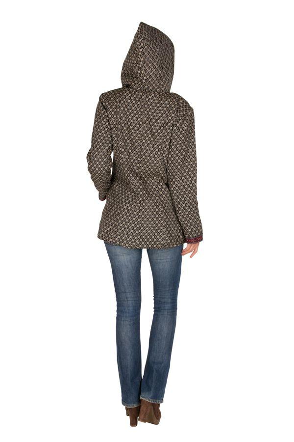Veste femme mi-saison avec une capuche Sonia 305412