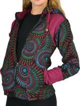 Veste femme zippée en polaire avec capuche originale Ruvy 304560