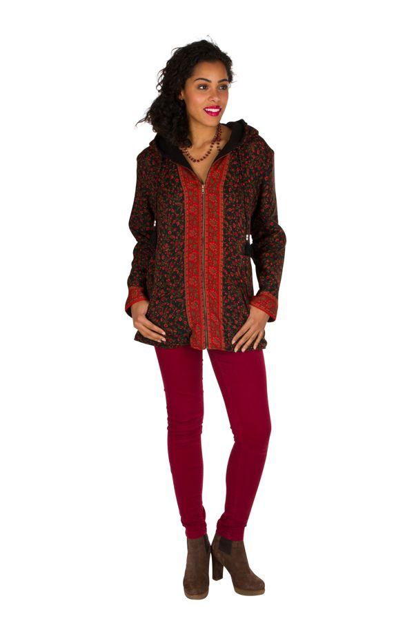 Veste femme zippée originale avec une capuche Sonia 305394