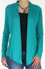Veste fluide Turquoise pour Femme Originale et Asymétrique Leila 278542