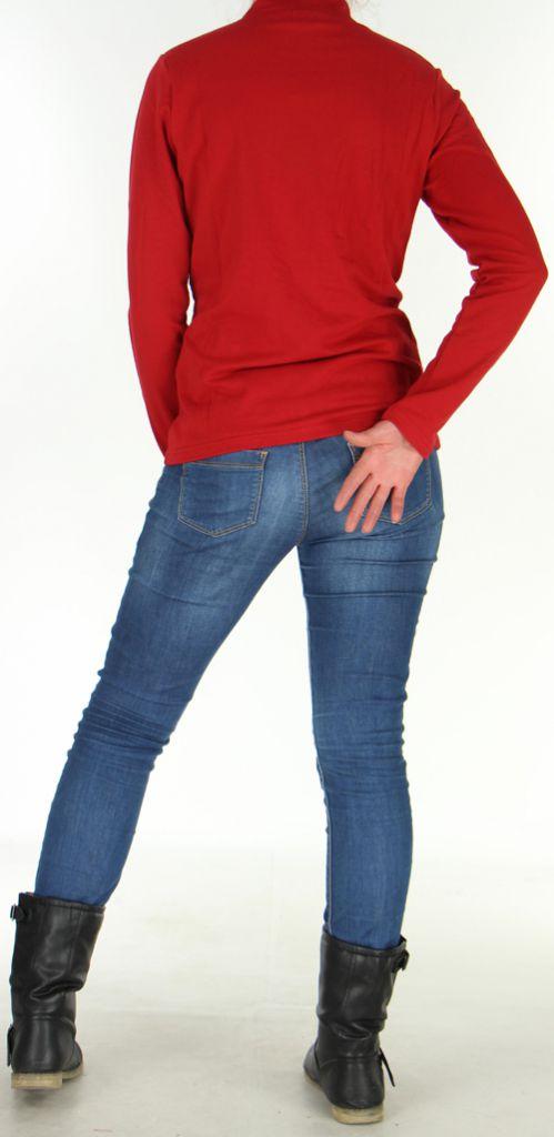 Veste légère pour Femme Originale à motifs Tribal Casia Rouge 278395